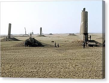 Semipalatinsk Nuclear Test Site Canvas Print by Ria Novosti