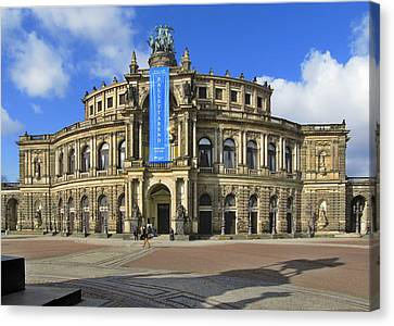 Semper Opera House - Semperoper Dresden Canvas Print by Christine Till