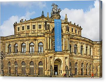 Semper Opera House Dresden Canvas Print by Christine Till
