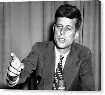 Sen. John Kennedy After Making Canvas Print by Everett
