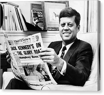 Sen. John Kennedy Becomes Canvas Print by Everett