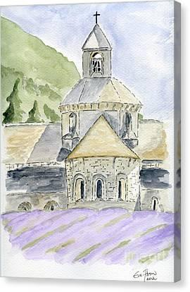Senanque Abbey Provence Canvas Print by Eva Ason