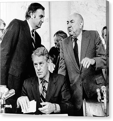 Senate Watergate Committee. Members Canvas Print by Everett
