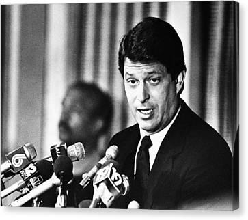Atlanta Convention Canvas Print - Senator Al Gore, At The Democratic by Everett