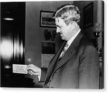 Senator Clarence C. Dill Of Washington Canvas Print by Everett