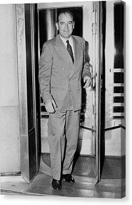 Senator Joseph Mccarthy, Leaving Canvas Print by Everett
