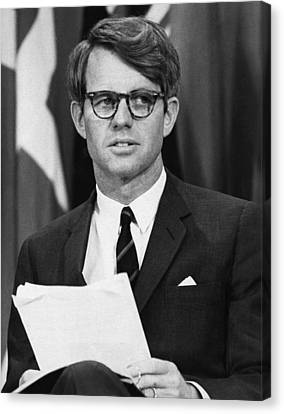 Senator Robert F. Kennedy Waits Canvas Print by Everett