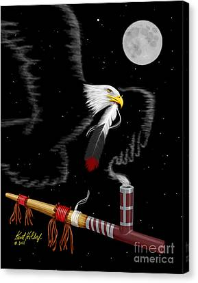 Sending A Feather To My Friend Canvas Print by Kurt Holdorf