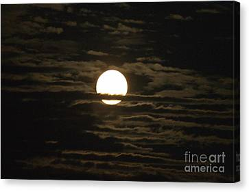 Canvas Print featuring the photograph Seneca Lake Moon by William Norton