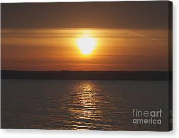 Canvas Print featuring the photograph Seneca Lake Sunrise by William Norton
