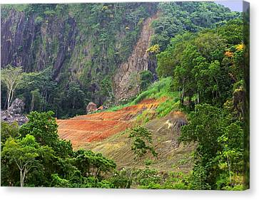 Senic Landscape Culebra Cut Canvas Print by Linda Phelps