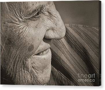 Senior Smile Canvas Print by Lin Haring