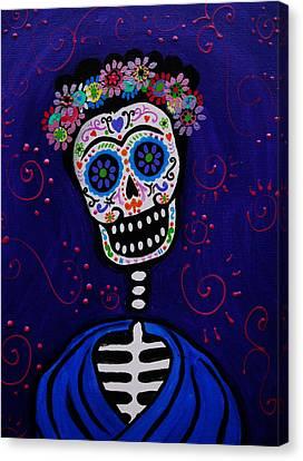 Senorita Frida Canvas Print by Pristine Cartera Turkus
