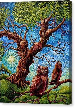 Sentient Owls Canvas Print