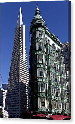 Sentinel Building San Francisco Canvas Print by Garry Gay