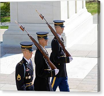 Sentinels At The Tomb Canvas Print