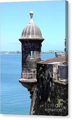 Sentry Tower Castillo San Felipe Del Morro Fortress San Juan Puerto Rico Canvas Print