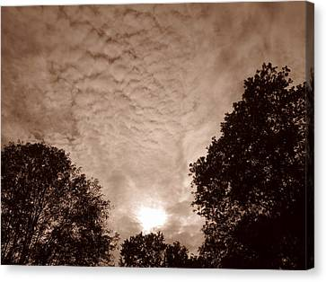 Canvas Print - Sepia Clouds by Shane Brumfield