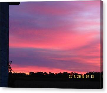 September 16 Sunrise Five Canvas Print by Tina M Wenger