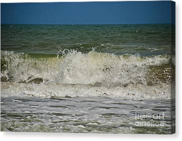 September Beach 2 Canvas Print by Susanne Van Hulst