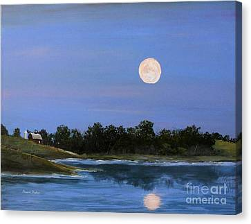 Canvas Print featuring the painting September Moon by Susan Fisher
