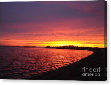Canvas Print featuring the photograph September Sunset by Cindy Lee Longhini