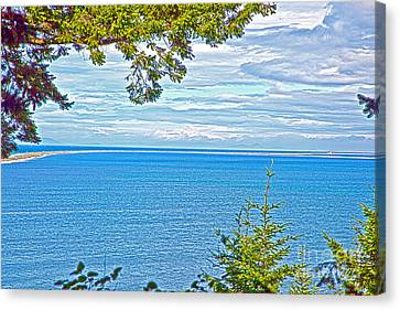 Sequim's Dungeness Spit Canvas Print by Molly Heng