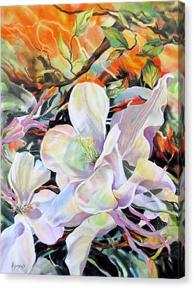 Canvas Print featuring the painting Serenata by Rae Andrews