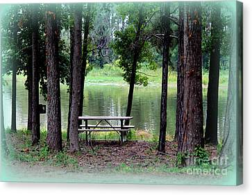 Canvas Print featuring the photograph Serene Escape by Kathy  White