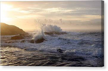 Canvas Print featuring the photograph Serene Sunset  by Michael Rock