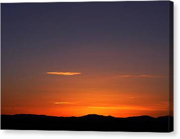 Serene Sunset Canvas Print by Paul Cutright