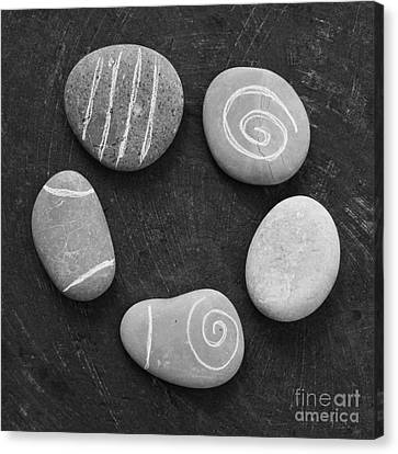 Serenity Stones Canvas Print by Linda Woods