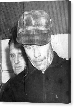 Serial Killer Ed Gein, Plainfeld Canvas Print by Everett