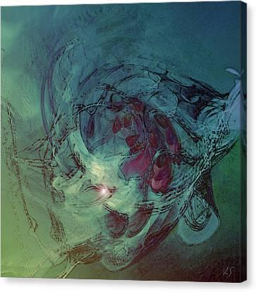 Serpent Head Canvas Print by Linda Sannuti