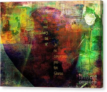 Interpretation Canvas Print - Serving In Silence by Fania Simon