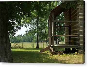 Settlers Cabin Arkansas 2 Canvas Print by Douglas Barnett