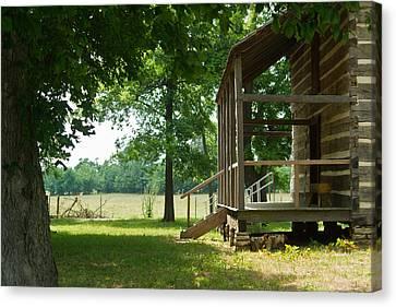 Settlers Cabin Arkansas 4 Canvas Print by Douglas Barnett