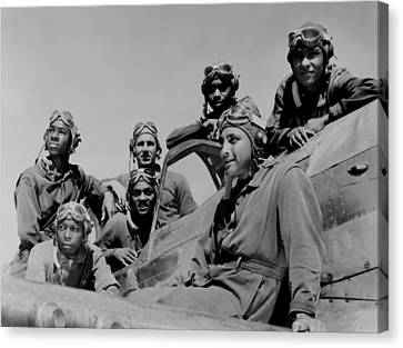 Seven African American Fliers Canvas Print by Everett