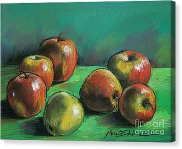 Seven Apples Canvas Print by Mona Edulesco