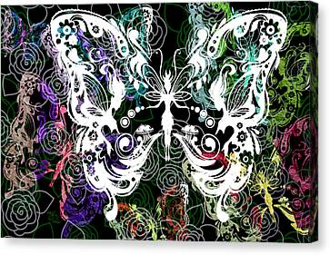 Seven Butterflies Canvas Print by Angelina Vick