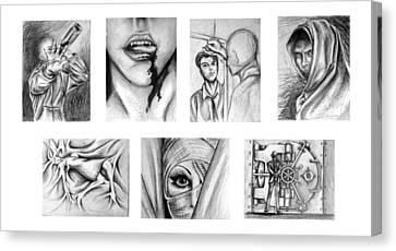 Seven Deadly Sins Canvas Print by Steven  Burkett