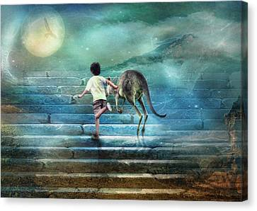 Seven Steps To The Moon Canvas Print by Trudi Simmonds