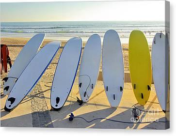 Seven Surfboards Canvas Print by Carlos Caetano