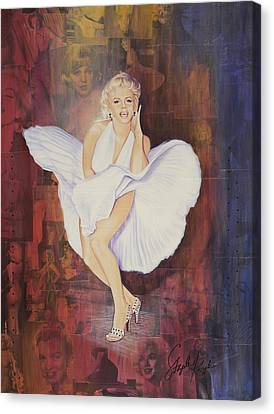 Seven Year Itch Canvas Print by Stapler-Kozek