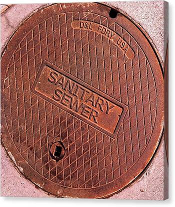 Sewer Cover Canvas Print by Bill Owen