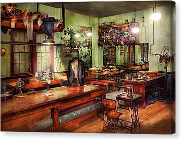 Sewing - Industrial - The Sweat Shop  Canvas Print by Mike Savad