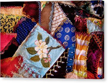 Sewing - Patchwork - Grandma's Quilt  Canvas Print by Mike Savad