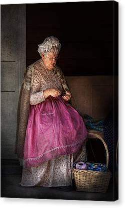 Sewing - Ribbon - Granny's Hobby  Canvas Print