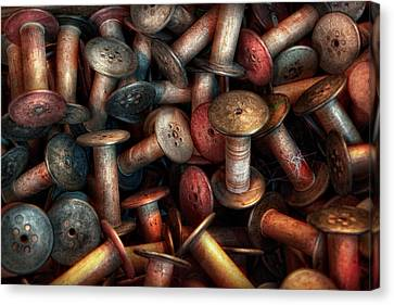 Sewing - Spools  Canvas Print by Mike Savad