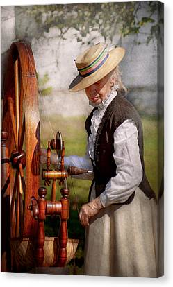 Sewing - Weaving - Big Wheel Keep On Turning  Canvas Print